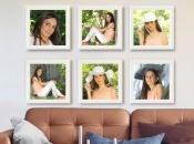 Mix Picture Frame 6 cuadros 20x20 blancos con fotos incluidas