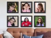 Mix Picture Frame 6 cuadros 20x20 caoba con fotos incluidas