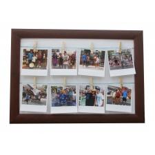 Cuadro 30x45 Moldura 261 con 8 fotos formato Polaroid