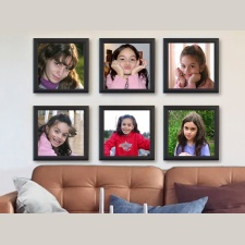 Mix Picture Frame 6 cuadros 20x20 caoba con fotos incluidas