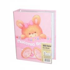 Álbum Bebé 13x18 para 100 fotos Rosa