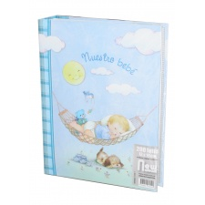 Álbum Bebé 13x18 para 200 fotos Azul