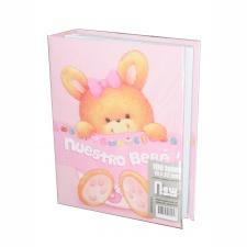 Álbum Bebé 15x21 para 100 fotos Rosa